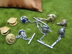 9 PC. ODD LOT OF TIE PINS N OTHER FOR MENS ACCESSORIES ON SH