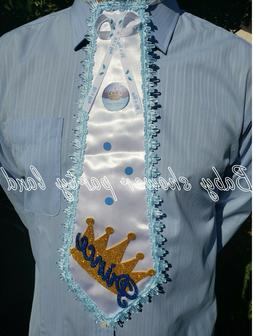 """BABY SHOWER FOR BOY DAD TO BE TIE """"IT'S A BOY"""" PRINCE TO BE"""