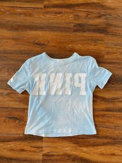 Blue And White Tie Dye PINK T Shirt