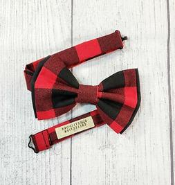 Buffalo Plaid Bow Ties and Hair Bows By SweetLooks Collectio