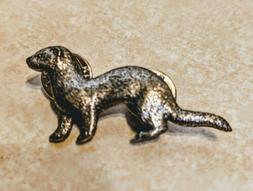 Ferret Push Pin, Lapel Pin or Tie Clasp - Pewter - Brand New
