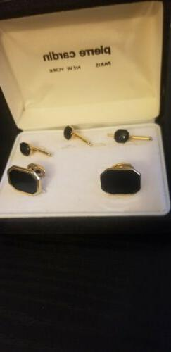 tie pins and cuff links set