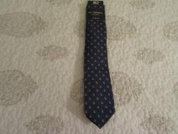 American Lifestyle Men's Tie, Navy with white, red anchor pr