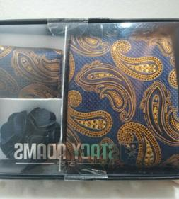 NEW!! Stacy Adams Tie, Pocket Square, Lapel Pin Gift Set