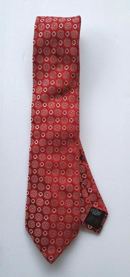 Canali Silk Tie Red with Pink and Blue Petal Shapes