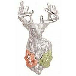 Black Hills Gold and Sterling Silver Deer Tie Tack Lapel Pin