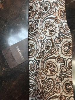Stefano Ricci Tie NWT New $285 Brown And Pink Paisley Patter