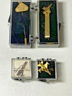 Vintage Lot of 4 Pins and Tie Clip Celebrate the  F-16 Gener