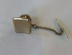 VINTAGE SARAH COVENTRY MEN'S TIE TACK TIE PIN~SQUARE~GOLD TO